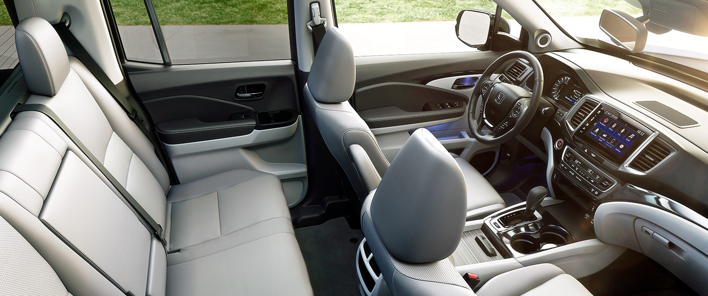 Ridgeline's Ample and Comfortable Cabin