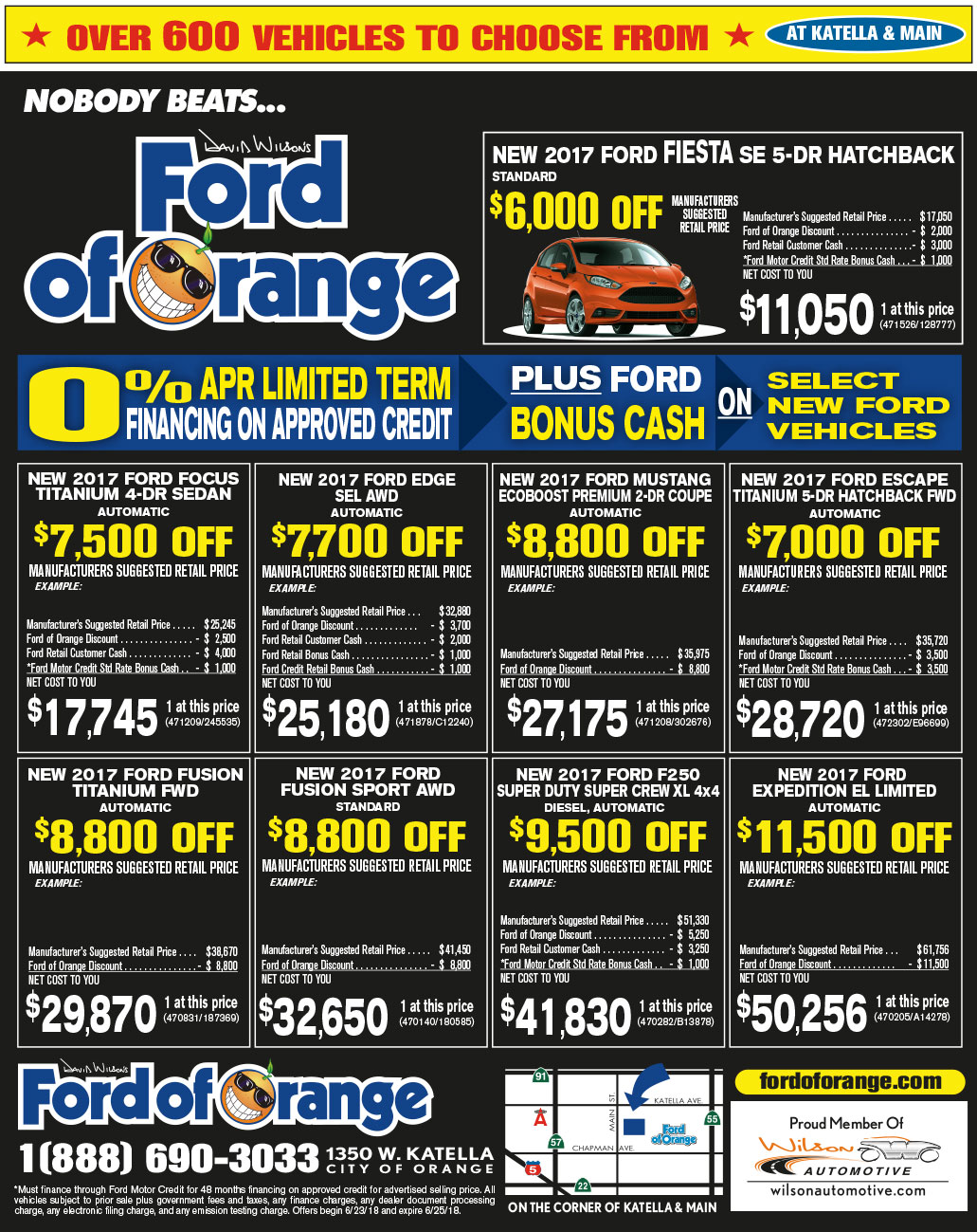 ford orange county of tustin park special f offers cash customer offer irvine buena
