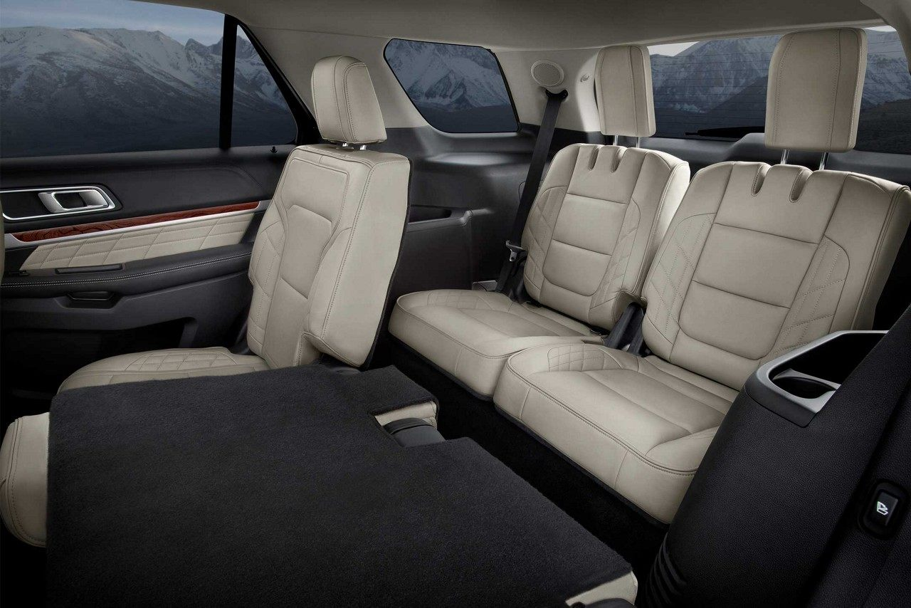 Versatile seating in the 2018 ford explorer