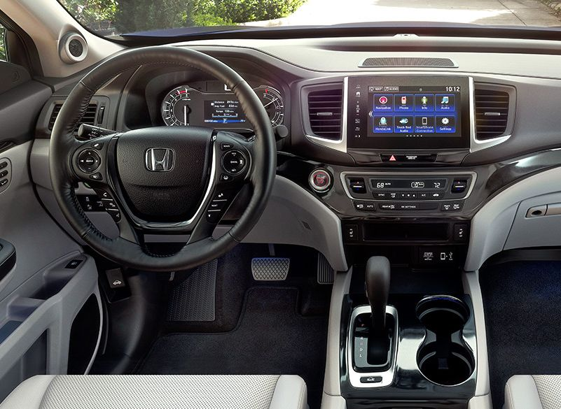 Interior Of The 2019 Honda Ridgeline