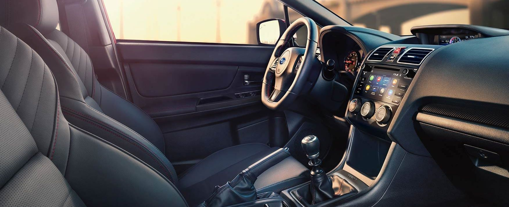 Interior of the 2018 Subaru WRX