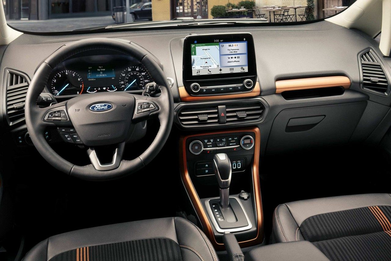 Interior of the 2018 Ford EcoSport