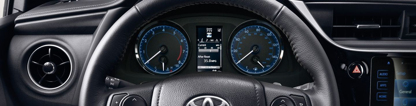 2019 Toyota Corolla Driving Cluster