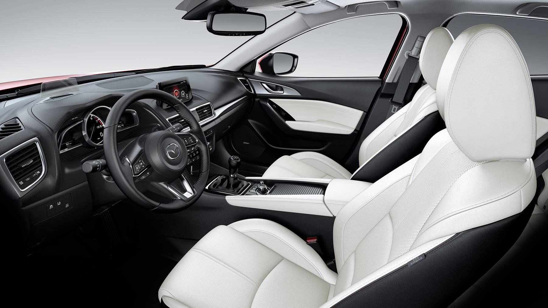 Interior of the 2018 Mazda3