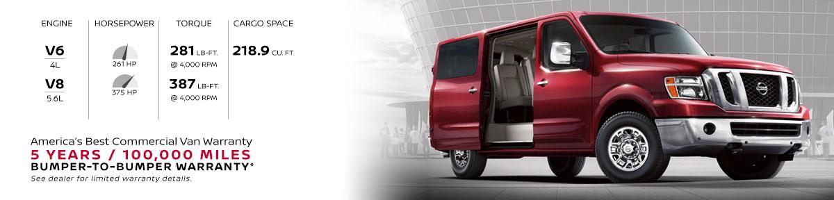 NV Passenger with America's best commercial van warranty