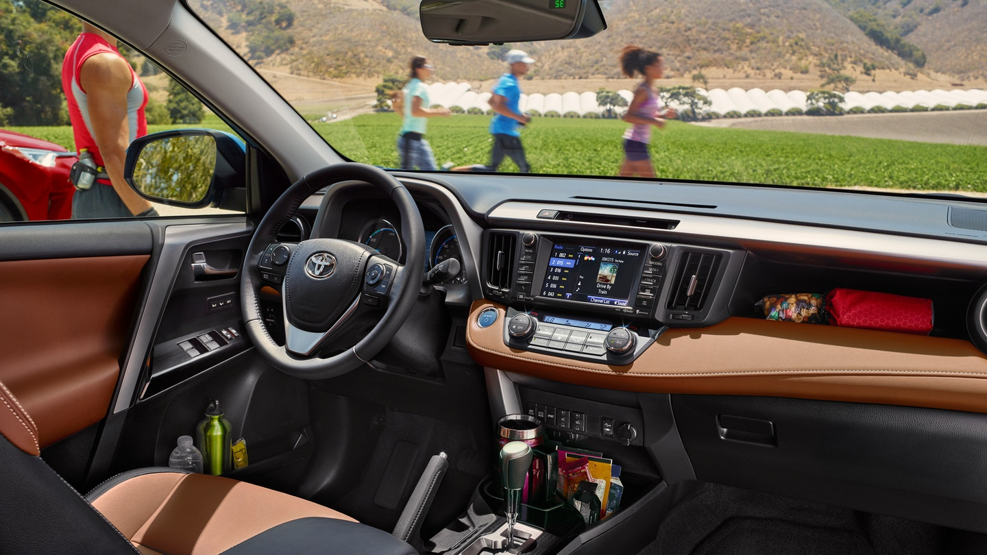 Interior of the 2018 Toyota RAV4