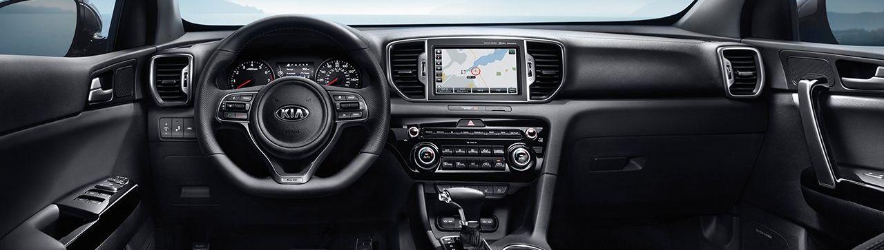 Dashboard in the 2019 Kia Sportage