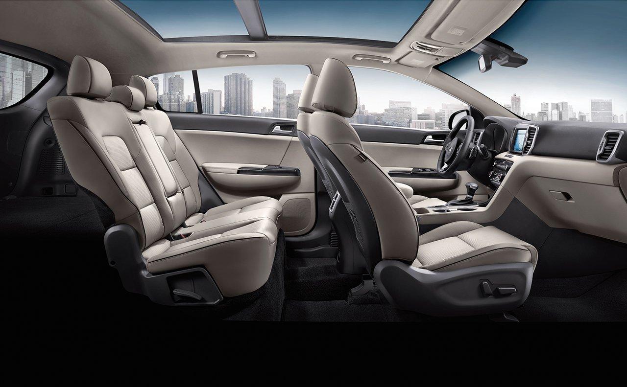 Seating in the 2019 Kia Sportage