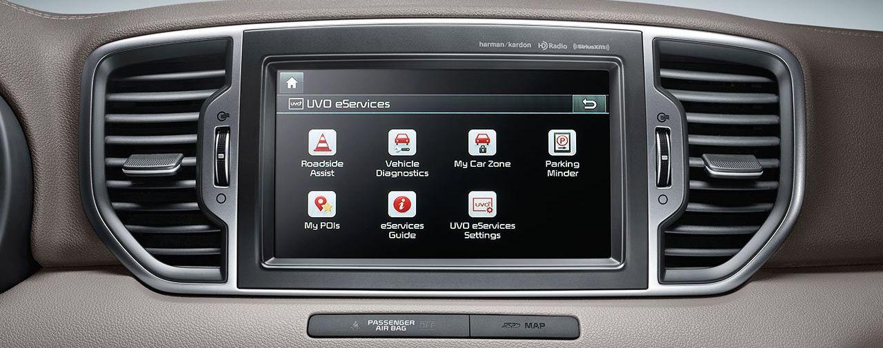 Display in the 2019 Kia Sportage