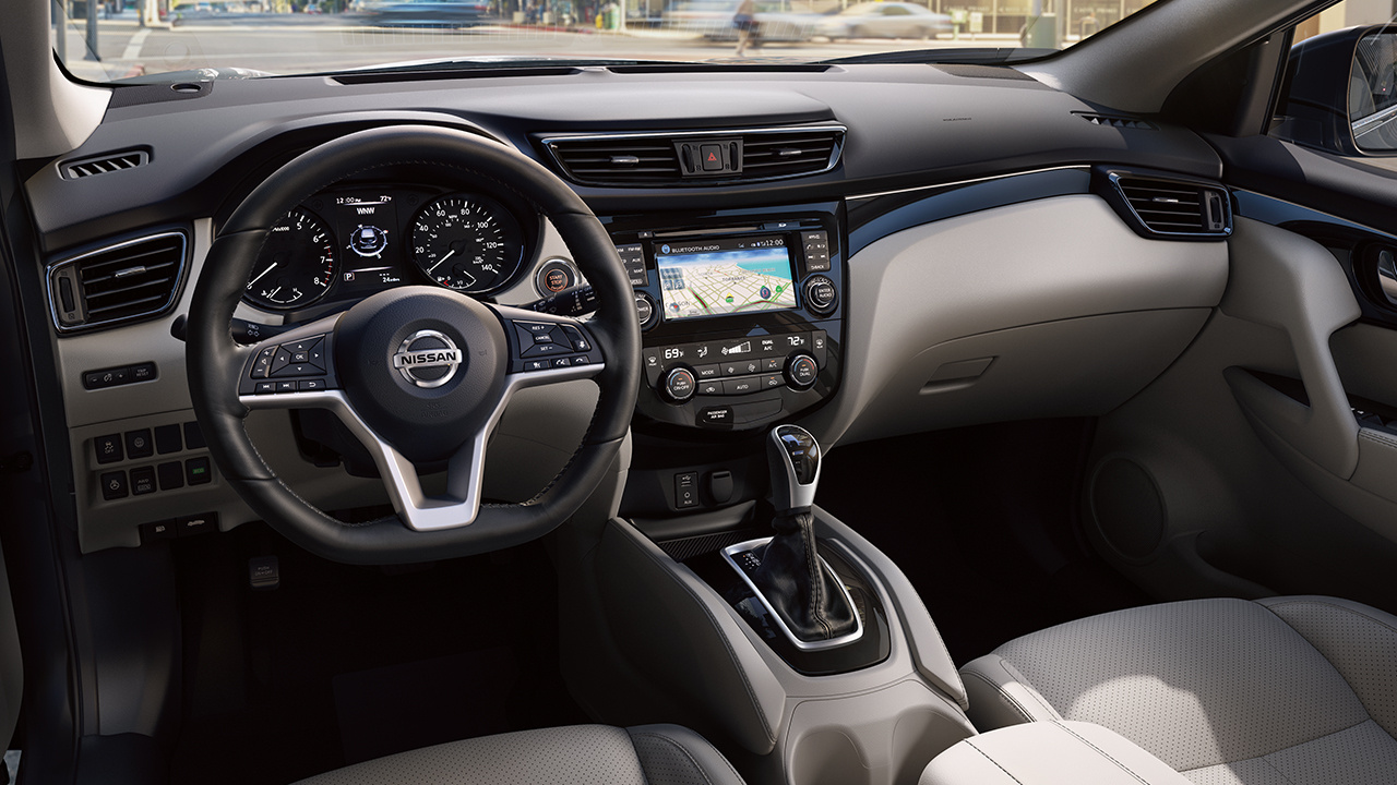 Interior of the 2018 Nissan Rogue Sport