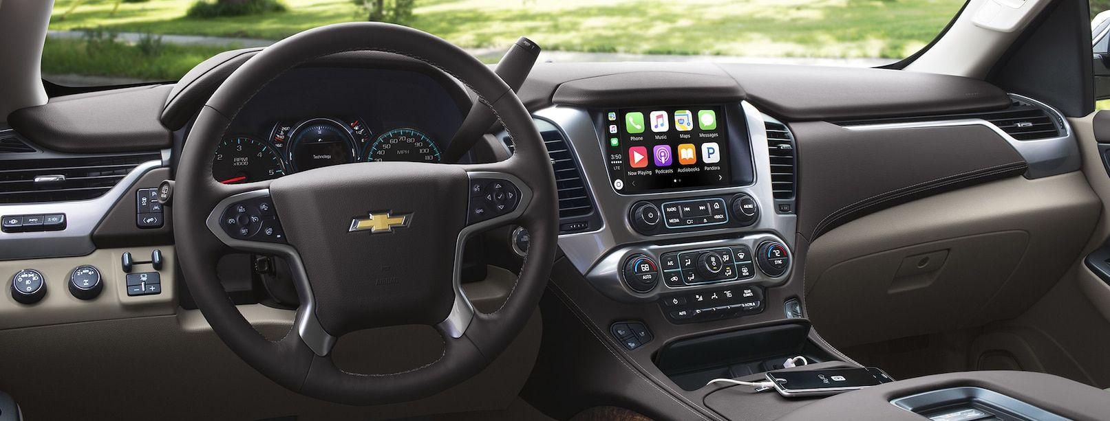 Interior of the 2018 Chevy Suburban