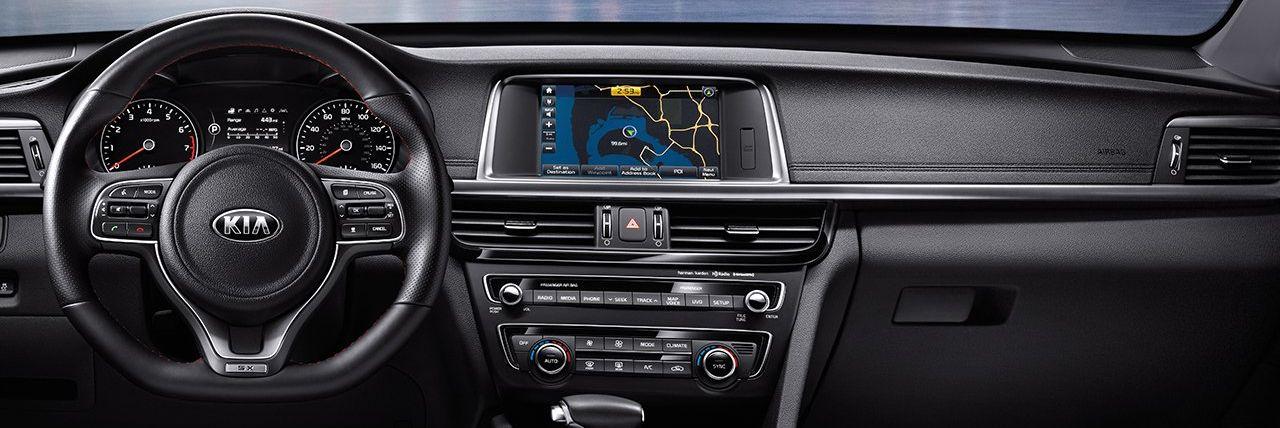 Dashboard in the 2018 Kia Optima