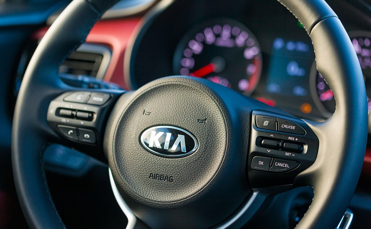 Steering Wheel of the 2018 Kia Rio