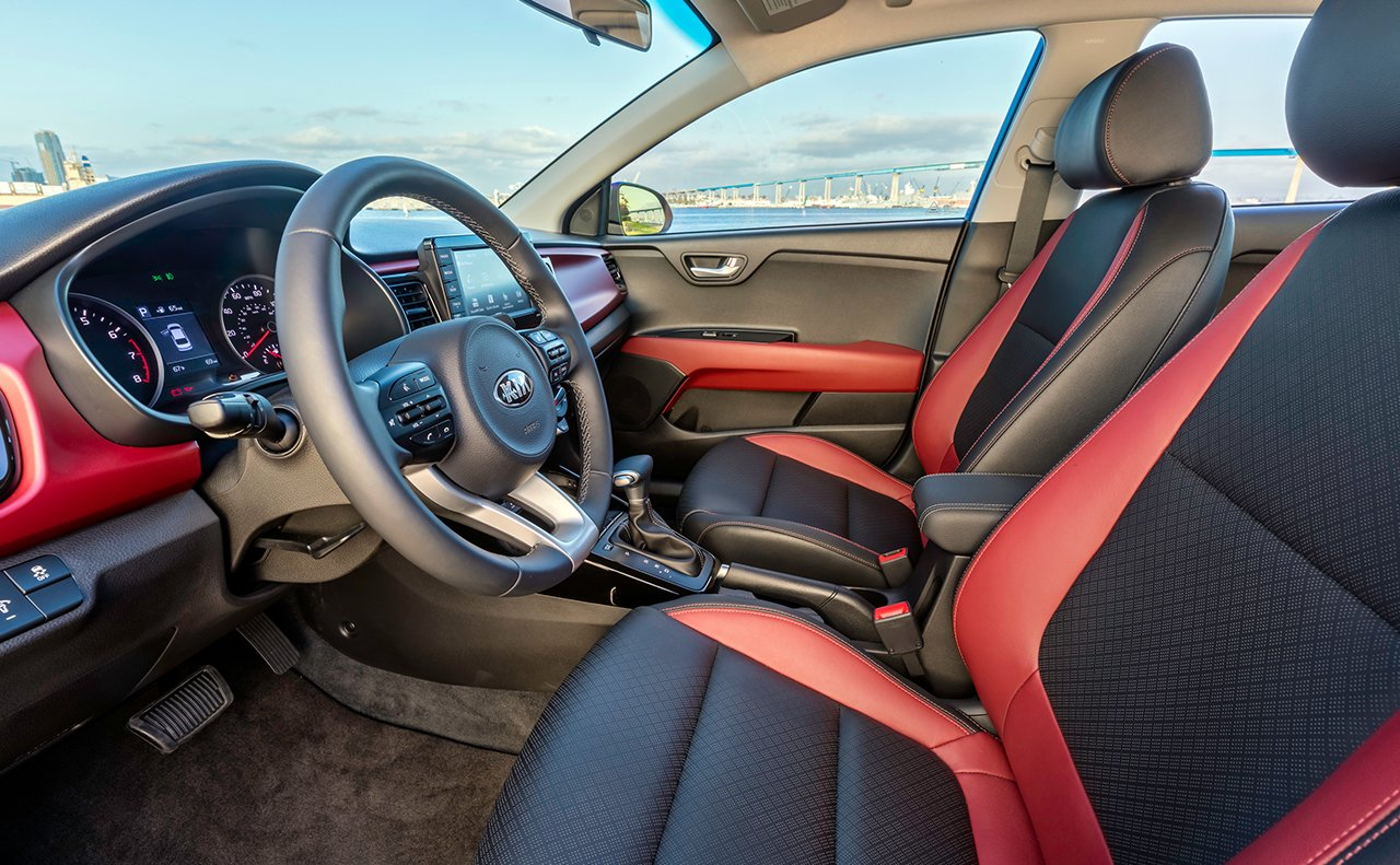 Interior of the 2018 Kia Rio