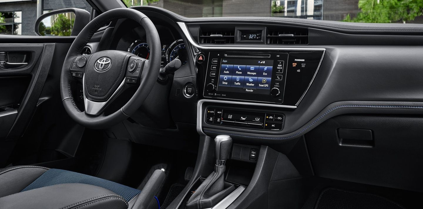 Loaded Interior of the 2019 Corolla
