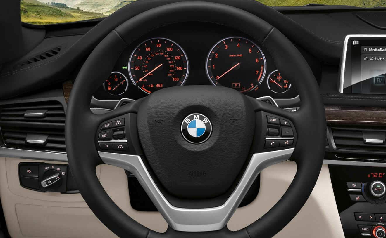 Steering Wheel of the 2018 BMW X5