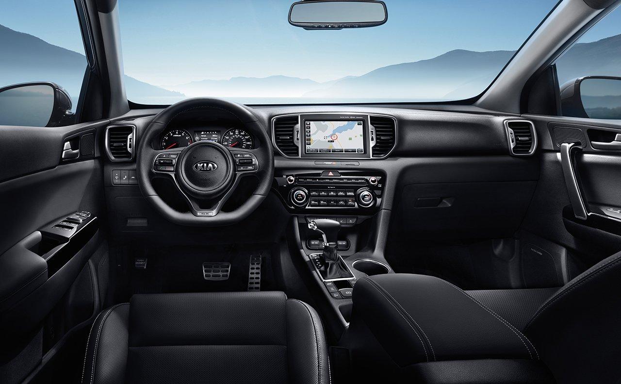 Interior of the 2018 Kia Sportage