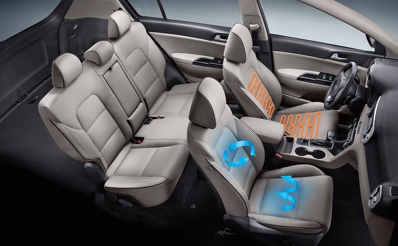 Available Heated and Ventilated Front Seats in the 2018 Sportage!