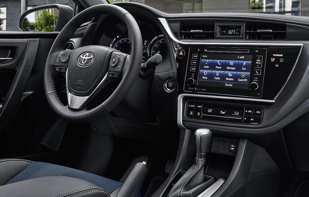 Interior of the Corolla