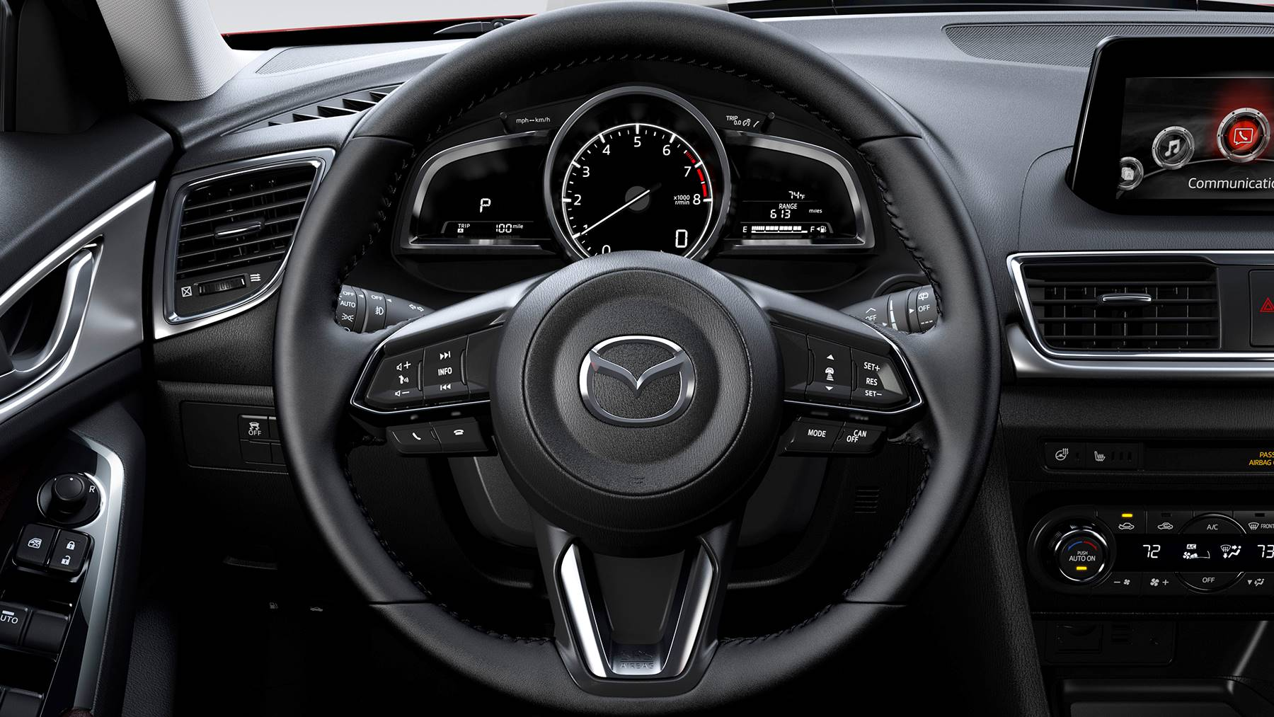 Steering Wheel of the 2018 Mazda3