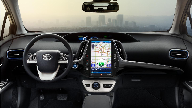 Interior of the 2018 Toyota Prius