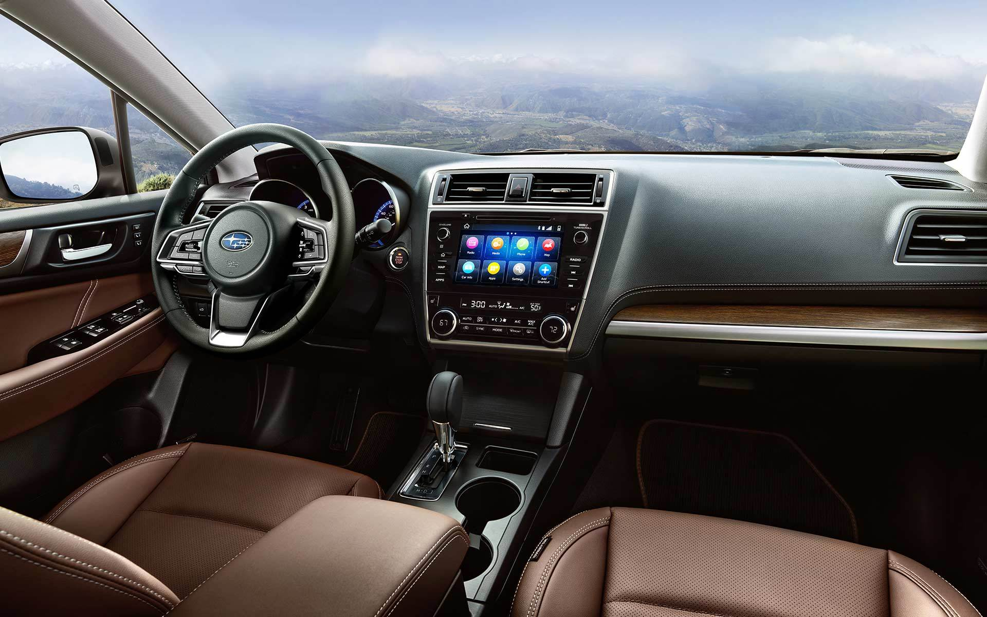 Interior of the 2018 Subaru Outback
