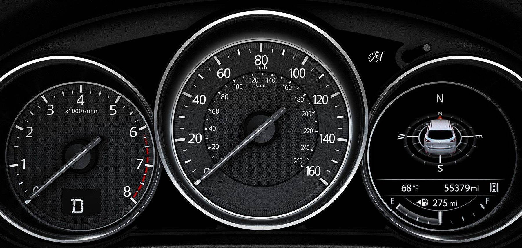 Speedometer in the 2018 Mazda CX-5