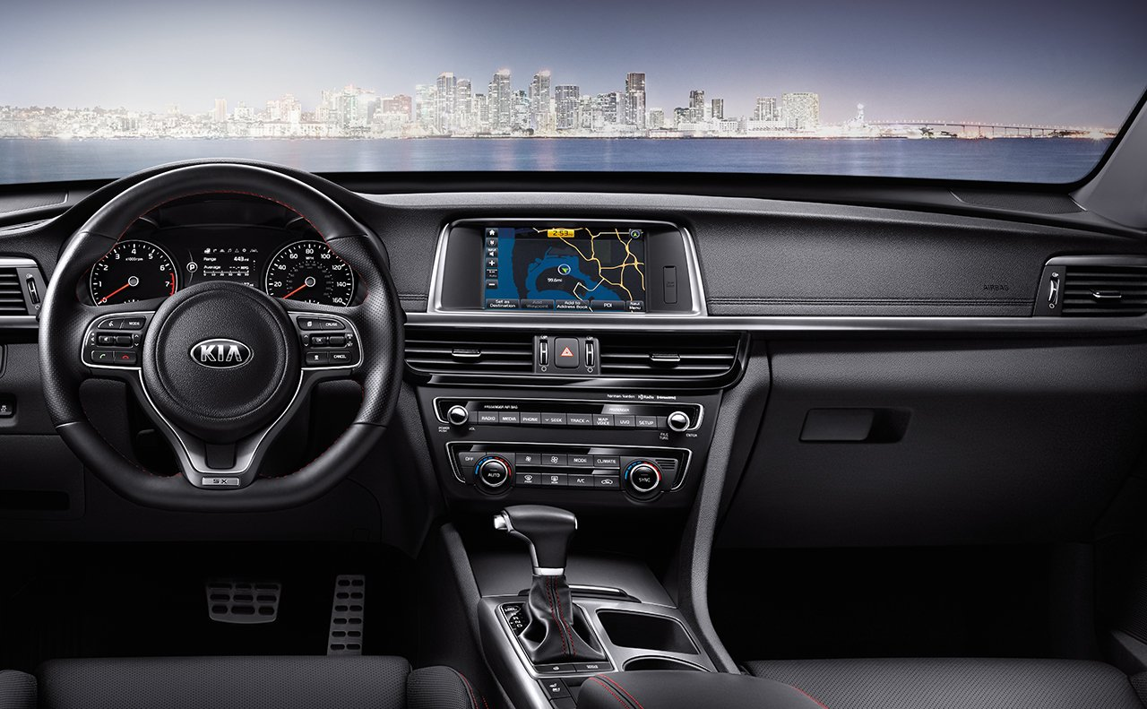 Interior of the 2018 Kia Optima
