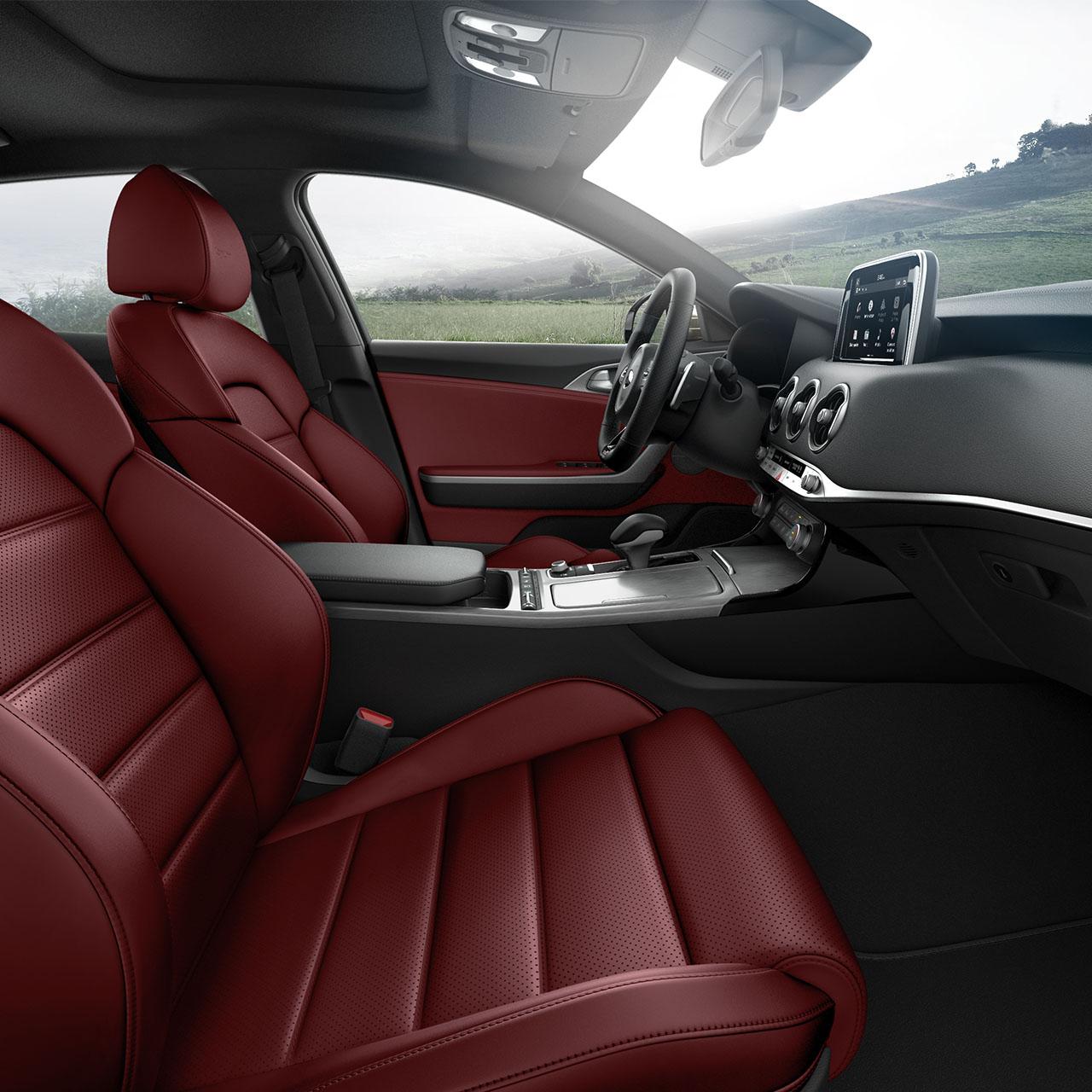 Luxurious Interior of the 2018 Kia Stinger