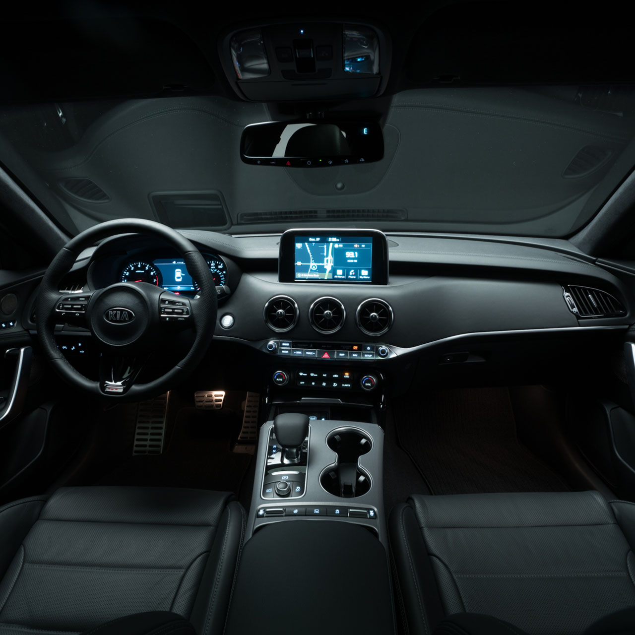 Interior of the 2018 Kia Stinger