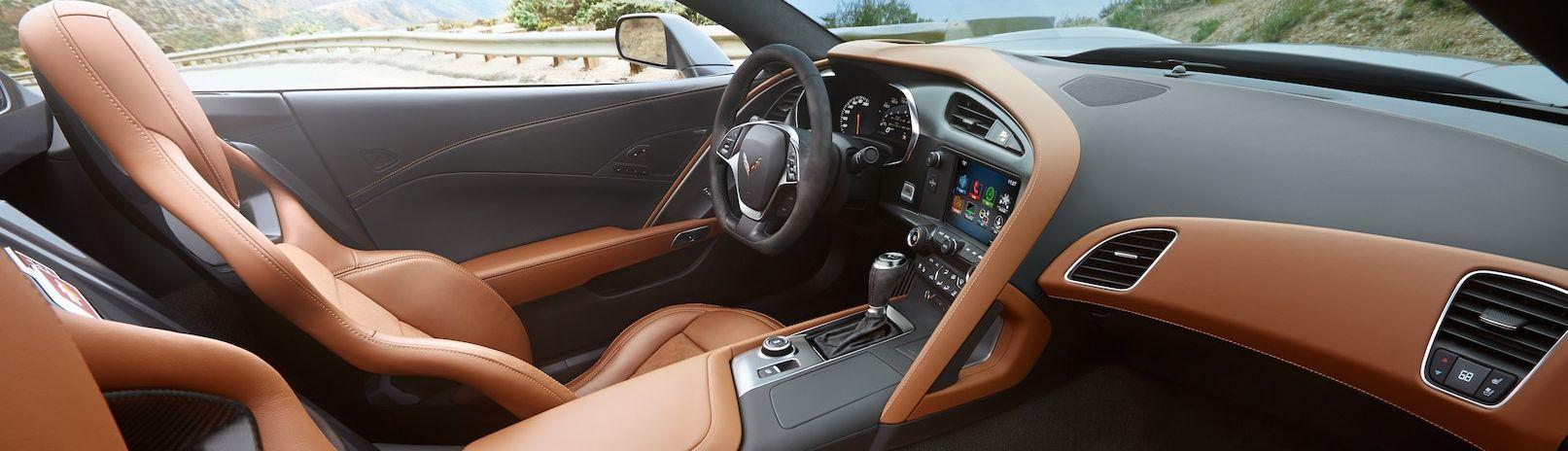 Interior of the 2019 Chevy Corvette
