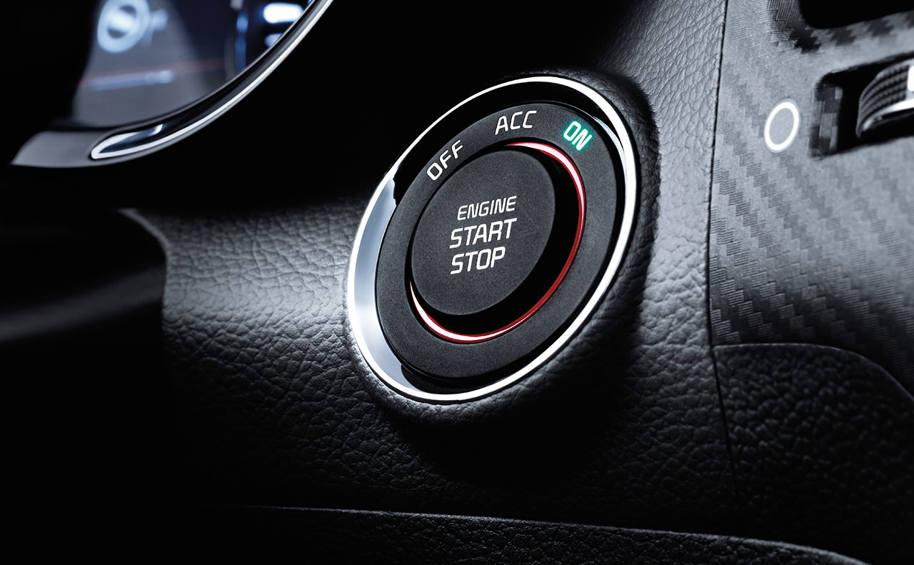 Available Push Button Start in the 2018 Forte