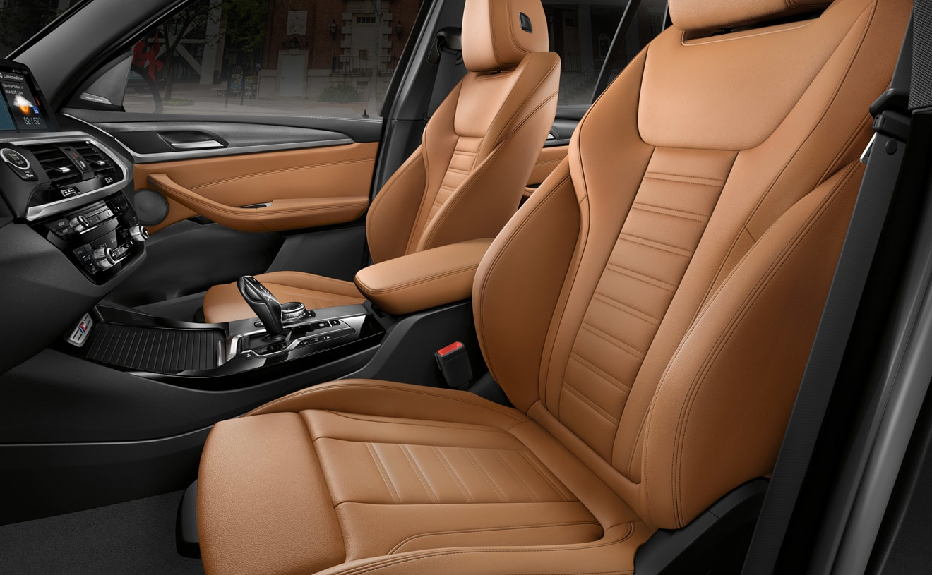 Interior of the 2018 BMW X3