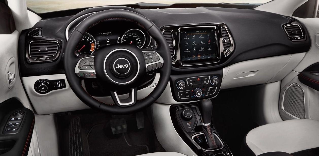 Interior of the 2018 Compass