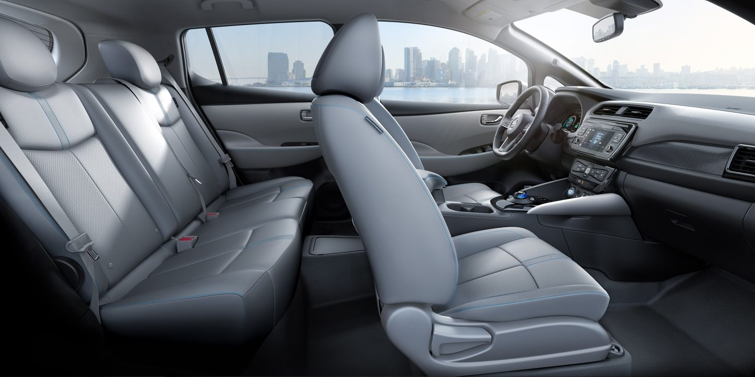 Interior of the 2018 Nissan LEAF