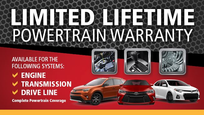 What Is Powertrain Warranty >> Limited Lifetime Powertrain Warranty Newark Toyota World Newark