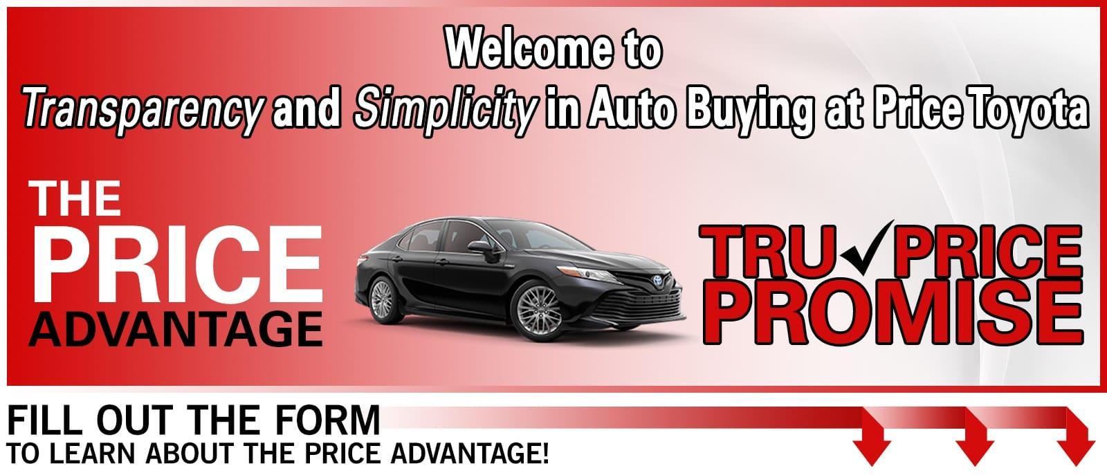 The Price Advantage Price Toyota Price Toyota
