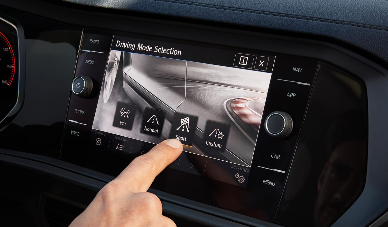 Touchscreen in the 2019 Jetta