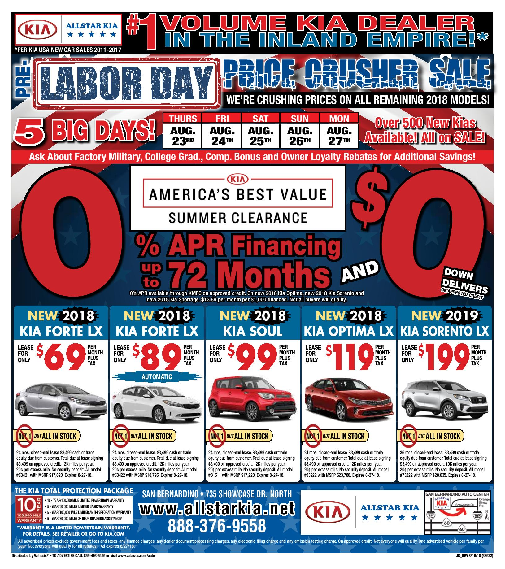Current Ads Kia Coupons