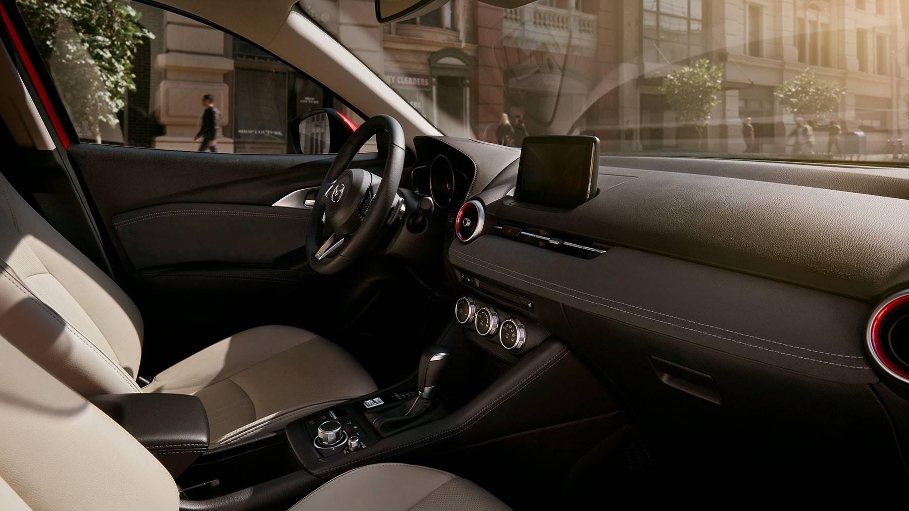 Interior of the 2018 Mazda CX-3