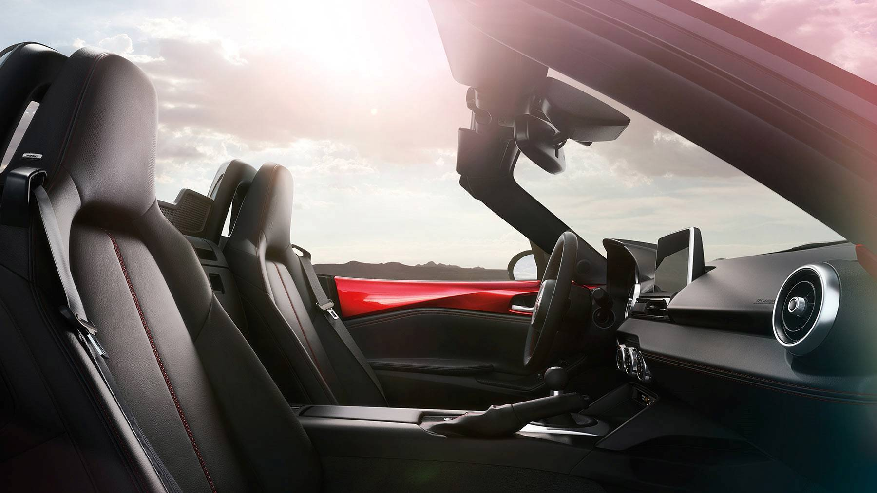 Interior of the 2018 Mazda MX-5 Miata