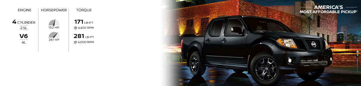 Nissan Frontier America's most affordable pickup
