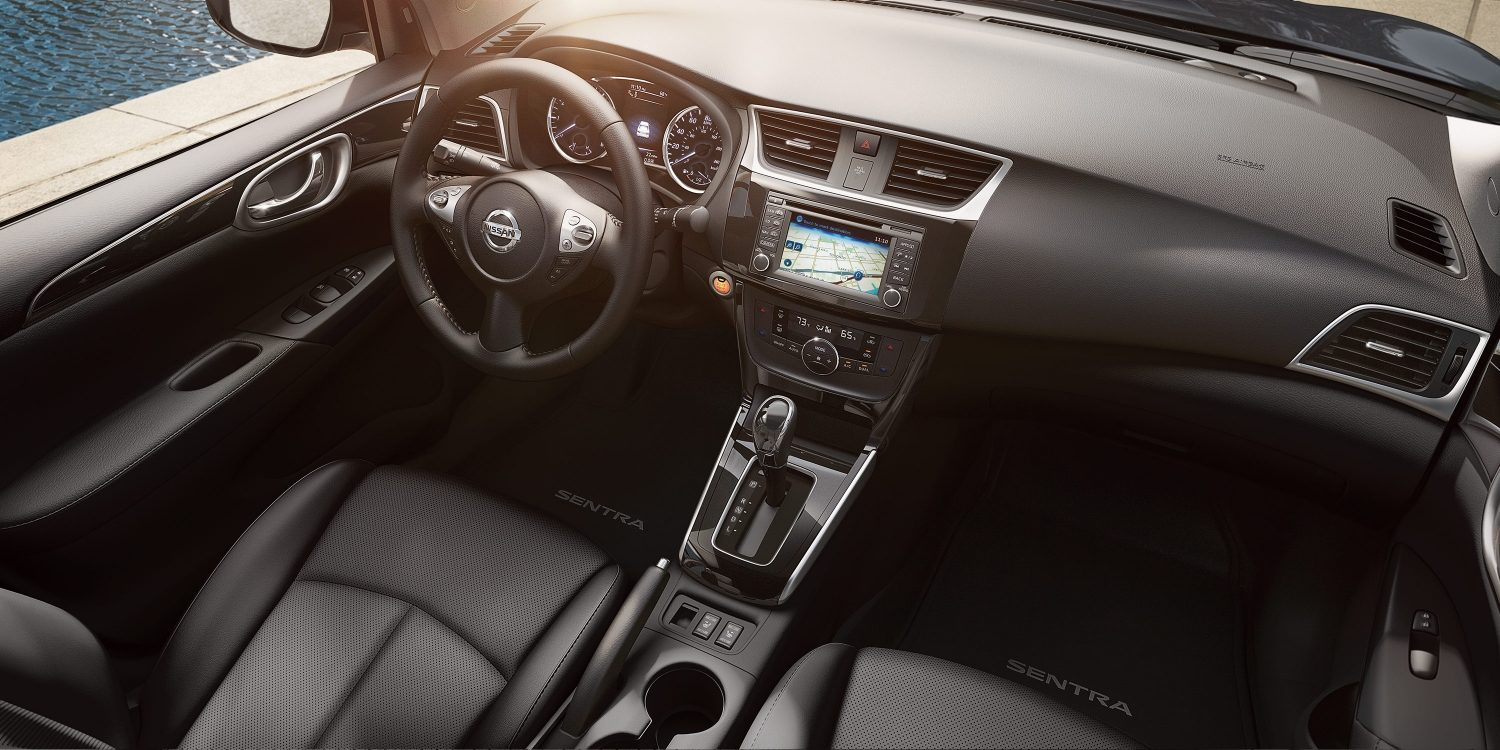 Dashboard in the 2018 Sentra