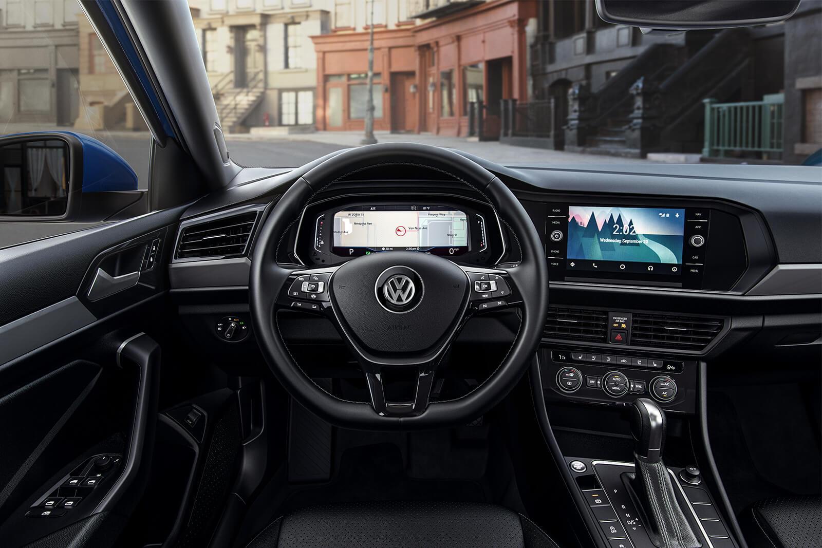 El diseño interior del Volkswagen Jetta 2019 es moderno y sofisticado