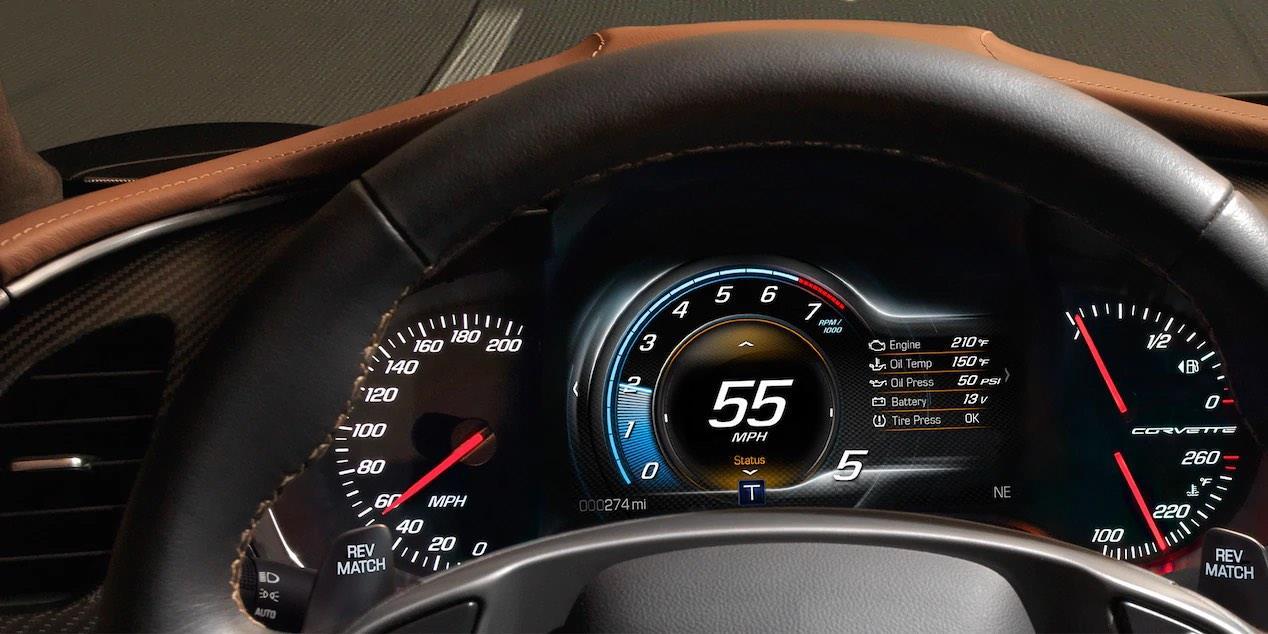 Chevrolet Corvette 2019 con paletas de cambios al volante