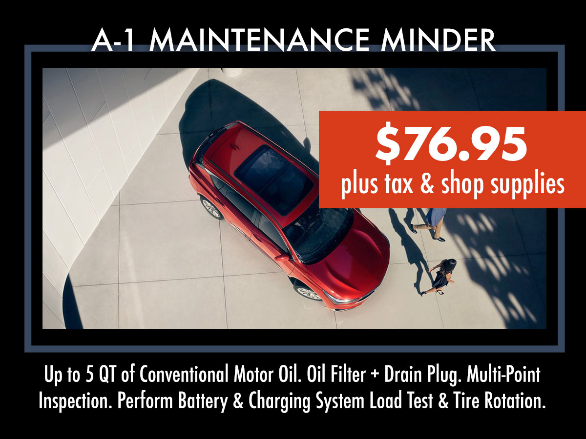 Acura A1 Maintenance Minder Service Coupon
