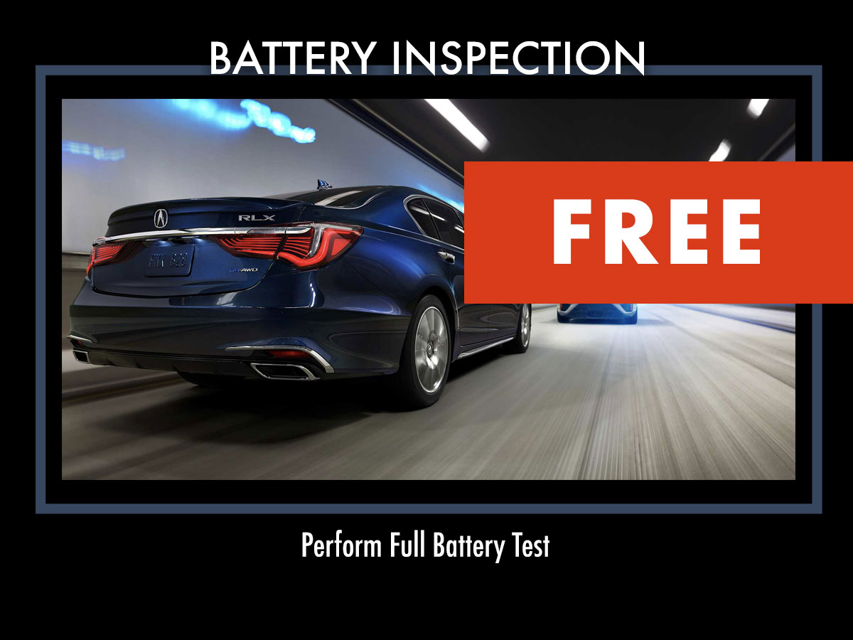 Acura FREE Battery Inspection Service Coupon