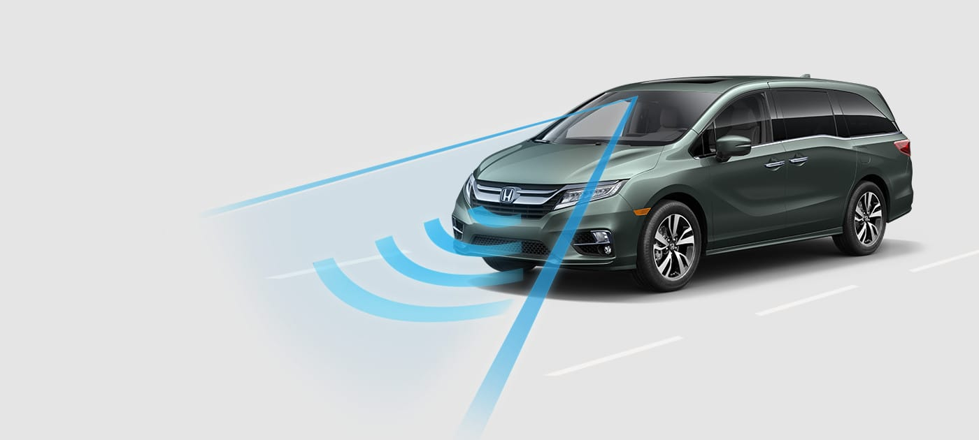 Las tecnologías Honda Sensing® en la Odyssey te mantienen seguro