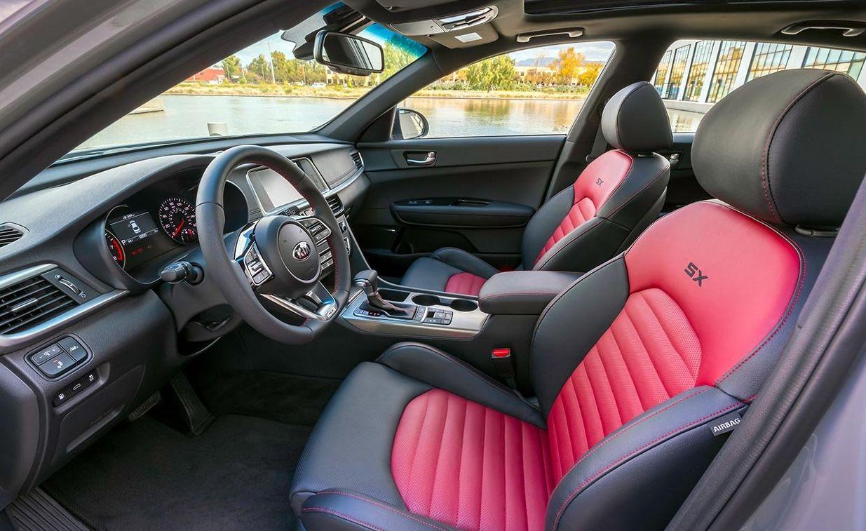 Interior of the 2019 Kia Optima