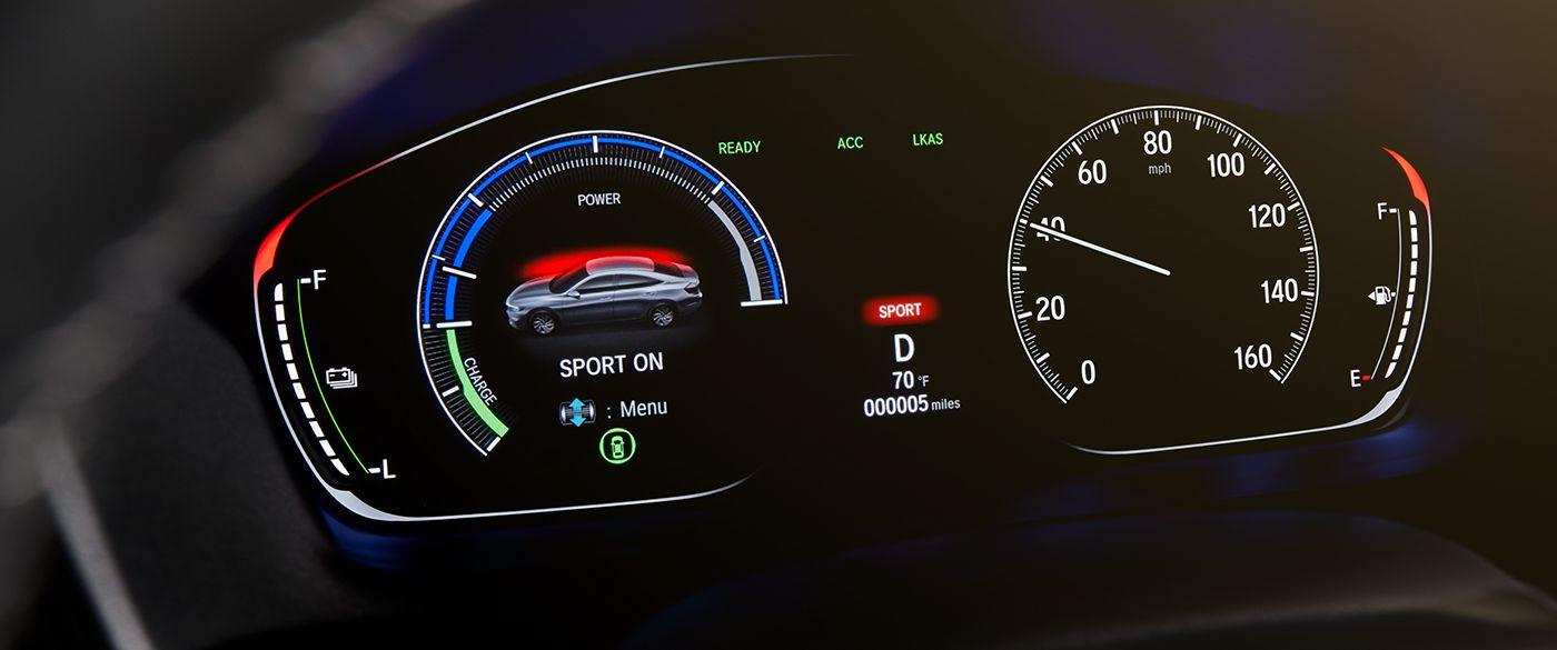Pantalla digital de información para el conductor en el Insight